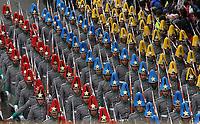 BOGOTÁ - COLOMBIA, 20-07-2019:Policia Nacional .Desfile Militar por la Avenida 68 de la capital , durante el 209 Aniversario del Día de la Independiencia Nacional ./Military Parade through Avenida 68 in the capital, during the 209th Anniversary of National Independence Day. Photo: VizzorImage / Felipe Caicedo / Satff