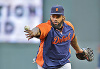 28 September 2012: Detroit Tigers first baseman Prince Fielder warms up prior to a game against the Minnesota Twins at Target Field in Minneapolis, MN. The Twins defeated the Tigers 4-2 in the first game of their 3-game series. Mandatory Credit: Ed Wolfstein Photo