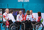 Ina Forrest, Jim Armstrong, Joe Rea, Sonja Gaudet and Dennis Thiessen, Sochi 2014 - Wheelchair Curling // Curling en fauteuil roulant.<br />