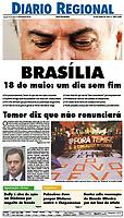 """19.05.2017 - Manifestantes protestaram contra o governo Temer e a favor das """"diretas já"""" na avenida Paulista. (Foto: Fábio Vieira/FotoRua)"""