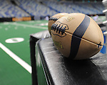 Images from the season opener and return of the New Orleans Voodoo to New Orleans.  The Voodoo fell to the Tampa Bay Storm, 46-40, at the New Orleans Arena.