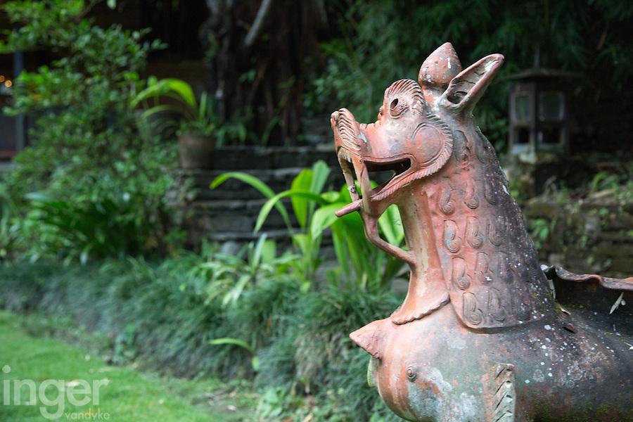 Statue in the Garden of The Last Resort, Nepal