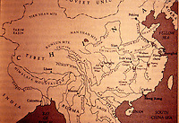 China:   Map of River and Canal Systems.  Van Slyke,  YANGTZE, p. 9.  Reference only.