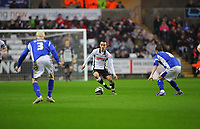 ATTENTION SPORTS PICTURE DESK<br /> Pictured: Leon Britton of Swansea City in action <br /> Re: Coca Cola Championship, Swansea City Football Club v Leicester City at the Liberty Stadium, Swansea, south Wales. Saturday 16 January 2010