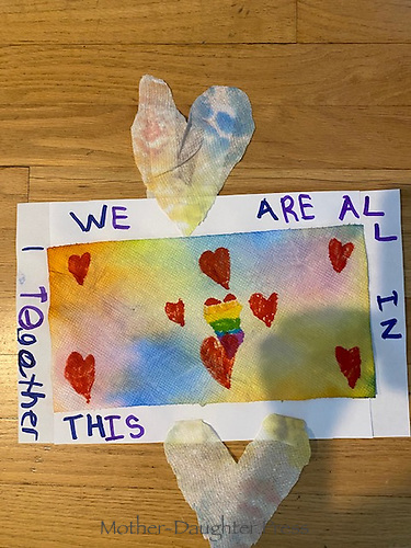 """""""WE ARE ALL IN THIS TOGETHER"""" Drawing by Ryan Flanagan, Grade 2, Yarmouth, ME, USA"""