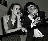 Jagger Hall6703.JPG<br /> New York, NY 1978 FILE PHOTO<br /> Mick Jagger & Jerry Hall<br /> Studio 54<br /> Digital photo by Adam Scull-PHOTOlink.net<br /> ONE TIME REPRODUCTION RIGHTS ONLY<br /> NO WEBSITE USE WITHOUT AGREEMENT<br /> 718-487-4334-OFFICE  718-374-3733-FAX