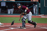 Bellarmine Knights catcher Patrick Arndt (38) on defense against the Liberty Flames at Liberty Baseball Stadium on March 9, 2021 in Lynchburg, VA. (Brian Westerholt/Four Seam Images)