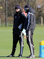 Pictured L-R: Manager Garry Monk with assistant Josep Clotet Wednesday 10 December 2014<br />