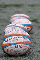 London Scottish practice balls during the Greene King IPA Championship match between Ealing Trailfinders and London Scottish Football Club at Castle Bar , West Ealing , England  on 19 January 2019. Photo by Carlton Myrie/PRiME Media Images