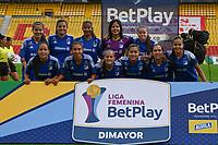 BOGOTÁ- COLOMBIA, 16-08-2021: Santa Fe  y Millonarios en partido por la fecha 8 como parte de la Liga Femenina BetPlay DIMAYOR 2020 jugado en el estadio Nemesio Camacho El Campín de Bogotá./ Santa Fe y Millonarios in match for the date 8 as part of Women's BetPlay DIMAYOR 2021 League, played at Nemesio Camacho El Campin stadium of Bogotá City. Photo: VizzorImage / Samuel Norato / Contribuidor