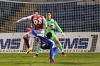 Catalin Cirjan scores Arsenal's opening goal during Gillingham vs Arsenal Under-21, Papa John's Trophy Football at the MEMS Priestfield Stadium on 10th November 2020