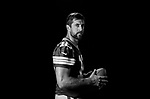 Aaron Rodgers - Green Bay Packers photo shoot for CBS at Lambeau Field in Green Bay, Wis., on July 31, 2017.