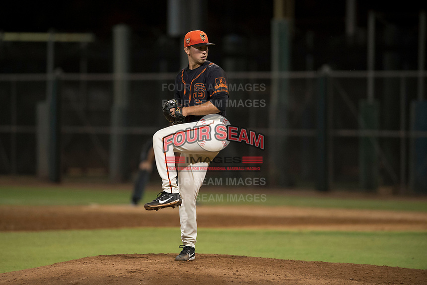 AZL Giants Black relief pitcher Trevor Horn (41) delivers a pitch during an Arizona League game against the AZL Angels at the San Francisco Giants Training Complex on July 1, 2018 in Scottsdale, Arizona. The AZL Giants Black defeated the AZL Angels by a score of 4-2. (Zachary Lucy/Four Seam Images)