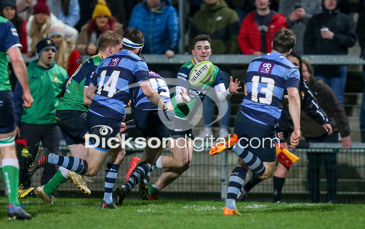 Wednesday 2nd January 2019 | MMW Junior Cup Final 2019<br /> <br /> Ronan Patterson scores during the  2019 MMW Ulster Junior Cup Final between Ballynahinch RFC and Dromore RFC at Kingspan Stadium, Ravenhill Park, Belfast, Northern Ireland. Photo by John Dickson / DICKSONDIGITAL