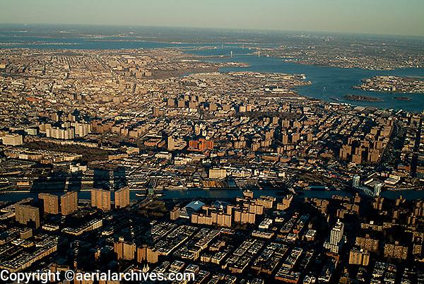 aerial photograph Harlem, Manhattan, Bronx, New York City