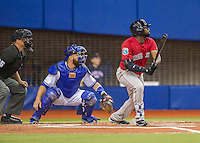 1 April 2016: Boston Red Sox outfielder Jackie Bradley Jr. in action during a pre-season exhibition series between the Toronto Blue Jays and the Boston Red Sox at Olympic Stadium in Montreal, Quebec, Canada. The Red Sox defeated the Blue Jays 4-2 in the first of two MLB weekend games, which saw an attendance of 52,682 at the former home on the Montreal Expos. Mandatory Credit: Ed Wolfstein Photo *** RAW (NEF) Image File Available ***