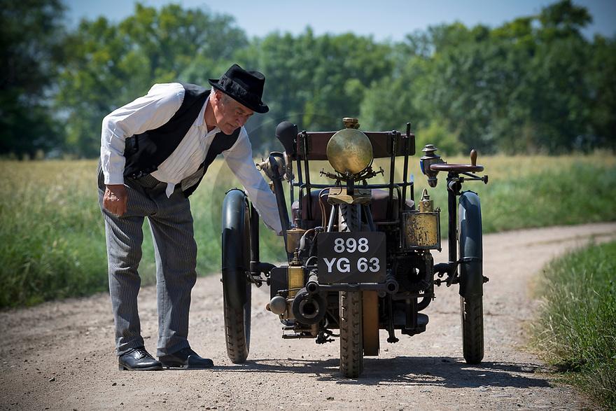 28/06/19 - CHAPPES - PUY DE DOME - FRANCE - Essais Tricycle Leon BOLLEE de 1898 appartenant au Patrimoine MICHELIN - Photo Jerome CHABANNE