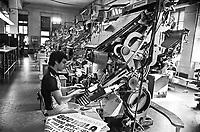- Livorno, la sala composizione del quotidiano Il Telegrafo (1977)<br /> <br /> - Livorno, the composition  room of The Telegraph  newspaper (1977)