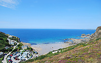 BNPS.co.uk (01202 558833)<br /> Pic: LillicrapChilcott/BNPS<br /> <br /> Pictured: Trevaunance Cove.<br /> <br /> Homebuyers can get the best of coast and country with this spectacular house on the market for offers in excess of £1.5m.<br /> <br /> Westfield sits in an incredible position with views over its own land and the sea at Trevaunance Cove in Cornwall.<br /> <br /> The four-bedroom family home is on the edge of the sought-after village of St Agnes, popular with locals, second home owners and holidaymakers.<br /> <br /> The hub of the home is the open-plan kitchen/family room with a folding door that opens up to the sea-facing terrace.