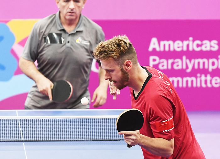 Curtis Caron, Lima 2019 - Para Table Tennis // Para tennis de table.<br /> Curtis Caron competes in Para Table Tennis // Curtis Caron participe en Para tennis de table. 23/08/2019.