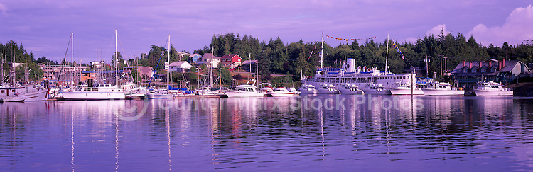 Ucluelet, BC, Vancouver Island, British Columbia, Canada - Canadian Princess Resort and Marina, Panoramic View