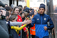 Jose Holebas of Watford arrives prior to the game during the Premier League match between Watford and Swansea City at the Vicarage Road, Watford, England, UK. Saturday 30 December 2017