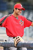June 12th 2008:  Matt Kata of the Indianapolis Indians, Class-AAA affiliate of the Pittsburgh Pirates, during a game at Fifth Third Field in Toledo, OH.  Photo by:  Mike Janes/Four Seam Images