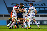 21st August 2020; AJ Bell Stadium, Salford, Lancashire, England; English Premiership Rugby, Sale Sharks versus Exeter Chiefs; Lood de Jager of Sale Sharks is tackled