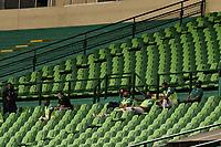 PALMIRA - COLOMBIA, 12-09-2020: Protocolos de seguridad durante el partido entre Deportivo Cali y Millonarios por la fecha 6 de la Liga BetPlay DIMAYOR I 2020 jugado en el estadio Deportivo Cali de la ciudad de Palmira. / Biosafety protocols during match between Deportivo Cali and Millonarios for the date 6 as part of BetPlay DIMAYOR League I 2020 played at Deportivo Cali stadium in Palmira city. Photo: VizzorImage / Gabriel Aponte / Staff