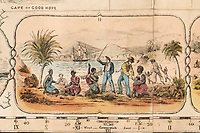 BNPS.co.uk (01202 558833)<br /> Pic: DominicWinter/BNPS<br /> <br /> Natives being subjected to violence.<br /> <br /> It's Wokopoly..<br /> <br /> A rare Victorian board game celebrating the might of the British Empire has emerged for sale - and it is sure to trigger the woke brigade.<br /> <br /> The World Map Board Game was produced in the aftermath of the successful World Exhibition held at Crystal Palace in 1851 to help Brits learn more about its 80-odd foreign territories.<br /> <br /> These are referred to as Britain's 'possessions' and there are images of tiger-hunting in India and Australian aborigines.