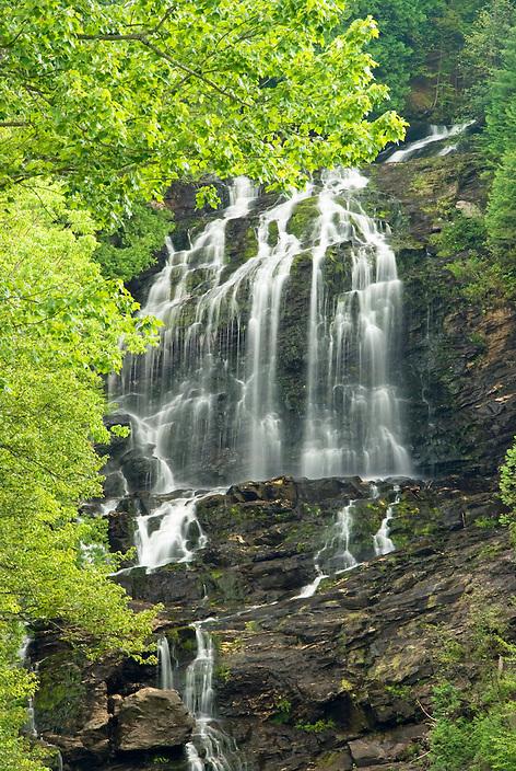A framed portrait of Beaver Brook Falls in Colebrook, New Hampshire.