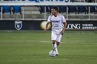 SAN JOSE, CA - NOVEMBER 04: Eddie Segura #4 of the Los Angeles FC dribbles the ball during a game between Los Angeles FC and San Jose Earthquakes at Earthquakes Stadium on November 04, 2020 in San Jose, California.