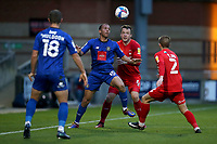Aaron Martin of Harrogate Town and Josh Coulson of Leyton Orient during Leyton Orient vs Harrogate Town, Sky Bet EFL League 2 Football at The Breyer Group Stadium on 21st November 2020