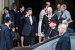 © Joel Goodman - 07973 332324 . 23/10/2015 . Manchester , UK . Chinese president , XI JINPING , leaves Manchester Town Hall during a Chinese state visit to the United Kingdom . Photo credit : Joel Goodman