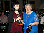 St Johnstone FC Player of the Year Awards 2017-18<br />The George Gordon Clubman of the Year is Bev Mayer presented by Gert Gordon<br />Picture by Graeme Hart.<br />Copyright Perthshire Picture Agency<br />Tel: 01738 623350  Mobile: 07990 594431