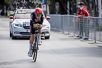 Tosh Van der Sande (BEL/Lotto Soudal)<br /> <br /> Final stage 7 (ITT) from San Benedetto del Tronto to San Benedetto del Tronto (10.1km)<br /> <br /> 56th Tirreno-Adriatico 2021 (2.UWT) <br /> <br /> ©kramon