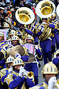 The St. Augustine Marching 100 perform during the Zulu parade on Mardi Gras morning as it rolls in the streets of New Orleans, Louisiana, USA 14 February 2010.