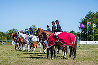GBR-Rosalind Canter rides Shannondale Nadia during the Prizegiving for the CCI-l 3* Section B. Final-1st. 2021 GBR-Saracen Horse Feeds Houghton International Horse Trials. Hougton Hall. Norfolk. England. Sunday 30 May 2021. Copyright Photo: Libby Law Photography