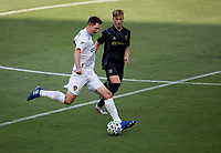 LOS ANGELES, CA - AUGUST 22: Sacha Kljestan #16 of the Los Angeles Galaxy moves with the ball during a game between Los Angeles Galaxy and Los Angeles FC at Banc of California Stadium on August 22, 2020 in Los Angeles, California.