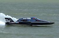 "David Coes, GNH-333 ""Demon Chaser"", Grand National Hydroplane.Rising Sun Regatta, Ohio River, Rising Sun, IN, USA 8-9 September,2001.Copyright©F.Peirce Williams 2001..F. Peirce Williams .photography.P.O.Box 455  Eaton, OH 45320 USA.p: 317.358.7326  e: fpwp@mac.com"