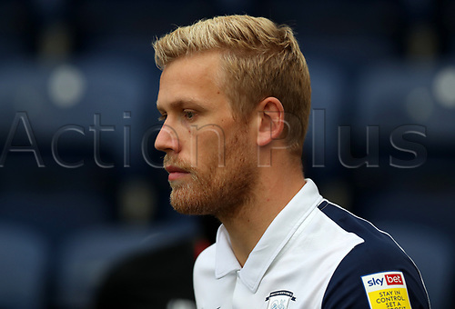 31st October 2020; Deepdale Stadium, Preston, Lancashire, England; English Football League Championship Football, Preston North End versus Birmingham City; Jayden Stockley of Preston North End walks from the tunnel prior to the match