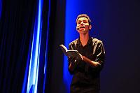 """Prêmio Sesc de literatura 2017 Prêmio Sesc de Literatura 2017 em Belém<br /> No evento, os escritores vencedores da edição deste ano João Meireles (conto) e José Almeida Junior (romance)  participam de bate-papo e apresentam suas obras publicadas pela editora Record, parceira do prêmio. E, em seguida haverá uma leitura dramática de fragmentos do romance """"Última hora"""" e """" o Abridor de Letras"""", por Ester Sá e Jorge Ney.<br /> <br /> Lançado pelo Serviço Social do Comércio (Sesc) em 2003, o concurso identifica escritores inéditos, cujas obras possuam qualidade literária para edição e circulação nacional. Para fortalecer esse vínculo com a literatura, pela primeira vez o Sesc promove a cerimônia de lançamento dos livros premiados no Prêmio Sesc de Literatura 2017."""