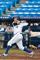 Wilmer Flores  #4 of the St. Lucie Mets during game 3 of the Florida State League Championship Series against the Daytona Cubs at Digital Domain Park on Spetember 11, 2011 in Port St. Lucie, Florida. Daytona won the game 4-2 to win the Florida State League Championship.  Photo by Scott Jontes / Four Seam Images