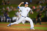 South Bend Cubs relief pitcher Scott Effross (32) during a game against the Burlington Bees on July 22, 2016 at Four Winds Field in South Bend, Indiana.  South Bend defeated Burlington 4-3.  (Mike Janes/Four Seam Images)