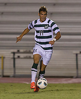 Number 8 ranked Charlotte beats number 16 ranked Coastal Carolina 1-0 on a goal by Thomas Allen in the 101st minute during the second overtime.  Giuseppe Gentile (11)
