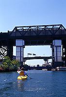 Kayaking on the Gowanus canal<br />