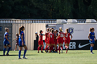 Seattle, WA - Saturday, August 26th, 2017: Portland Thorns FC during a regular season National Women's Soccer League (NWSL) match between the Seattle Reign FC and the Portland Thorns FC at Memorial Stadium.