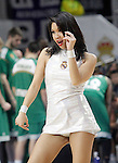 Real Madrid's cheerleader during Euroleague match.January 22,2015. (ALTERPHOTOS/Acero)