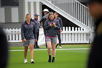 ND players arrive for the women's Hallyburton Johnstone Shield one-day cricket match between the Wellington Blaze and Northern Districts at the Basin Reserve in Wellington, New Zealand on Saturday, 21 November 2020. Photo: Dave Lintott / lintottphoto.co.nz