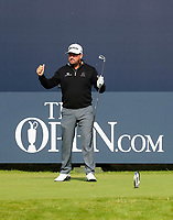 180719 | The 148th Open - Day 1<br /> <br /> Graeme McDowell of Northern Ireland about to get his first round underway during the 148th Open Championship at Royal Portrush Golf Club, County Antrim, Northern Ireland. Photo by John Dickson - DICKSONDIGITAL